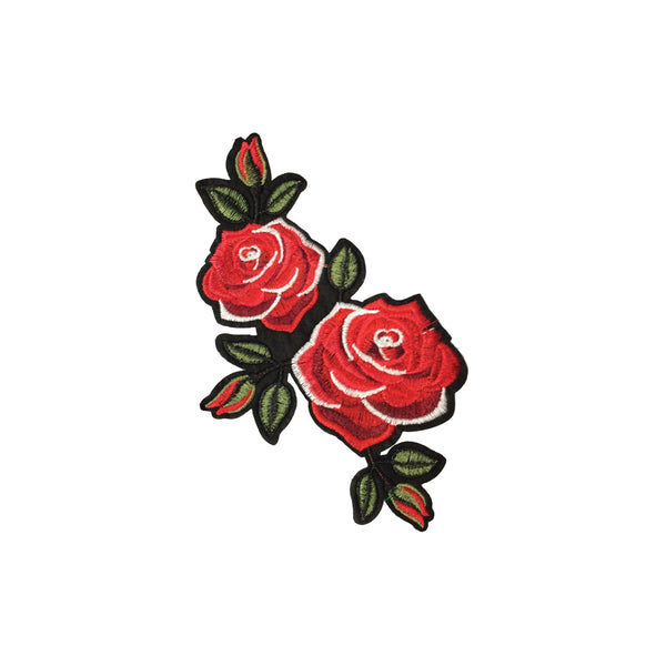 PC3841 - Double Red Rose L (Iron On)