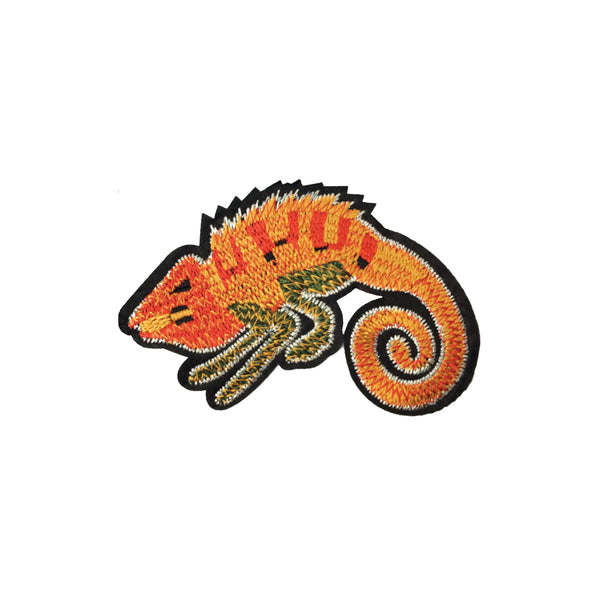 PC3871 - Orange Gold Chameleon Lizard (Iron On)