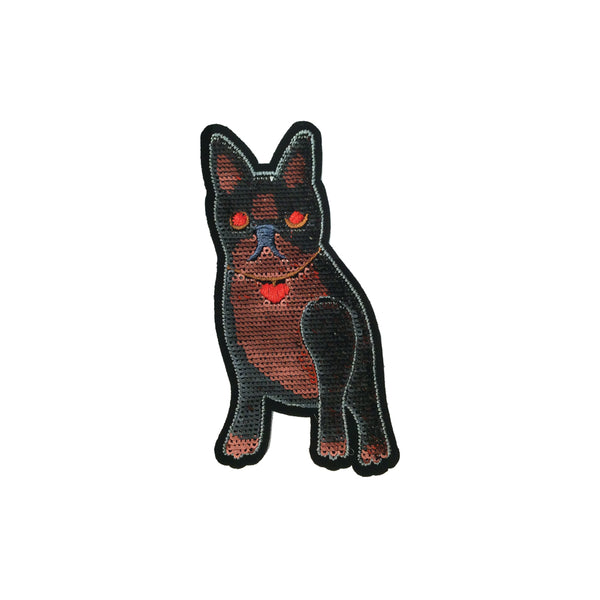 PC3895 - Sequin Heart Cat Dog (Iron On)