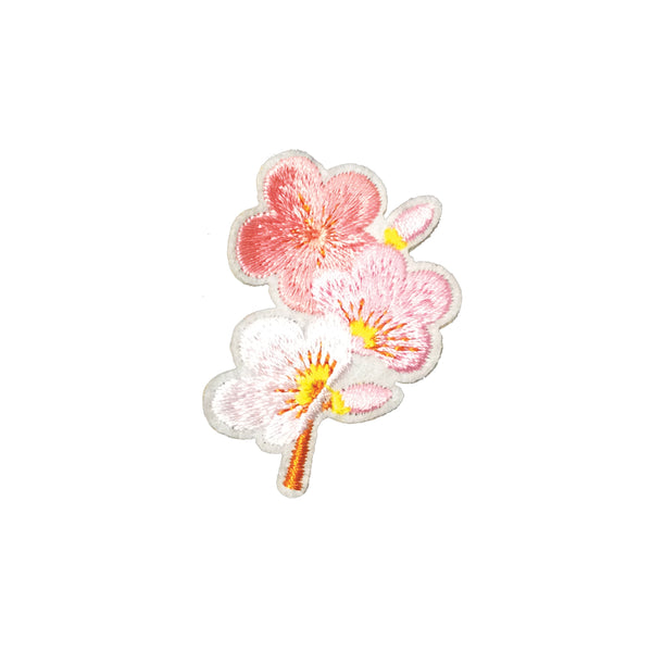 PC3930 - Pink Shades Flower Branch (Iron On)