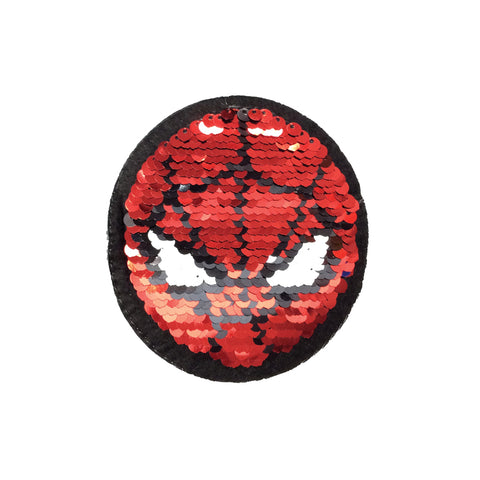 PC3944 - Reversible Double Sequin Spiderman Mask Face (Iron On)