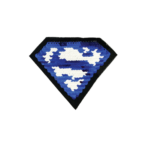 PC3945 - Reversible Double Sequin Superman Logo (Iron On)