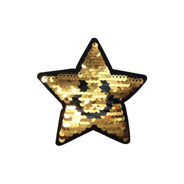 PC3946 - Reversible Double Sequin Gold Star (Iron On)