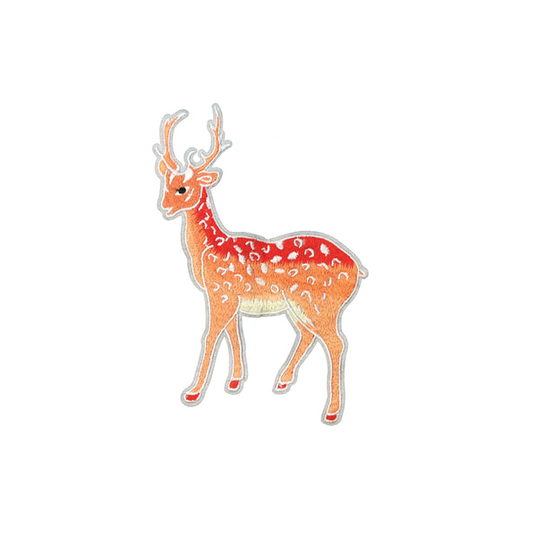 PC3950 - Peach Antelope Antlers Deer (Iron On)