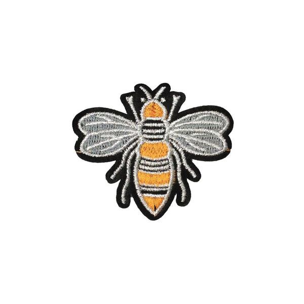 PC3990 - Golden Silver Bee Wasp (Iron On)