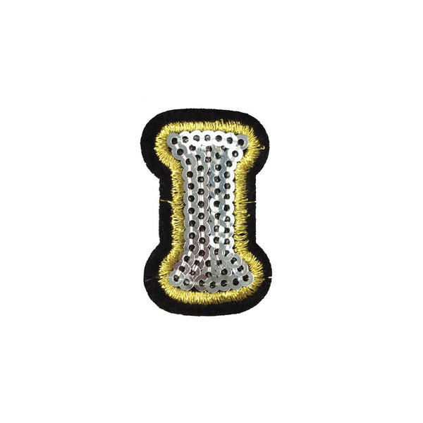 PC4001I - Sequin Silver Letter I (Iron On)