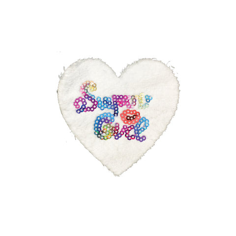 PC4002 - White Fur Heart Super Girl (Sew On)