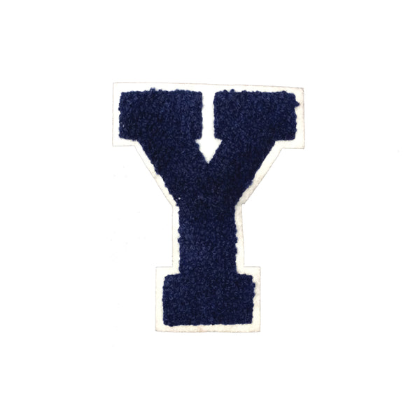 PC4025 - Blue Fur Letter Y (Iron On)