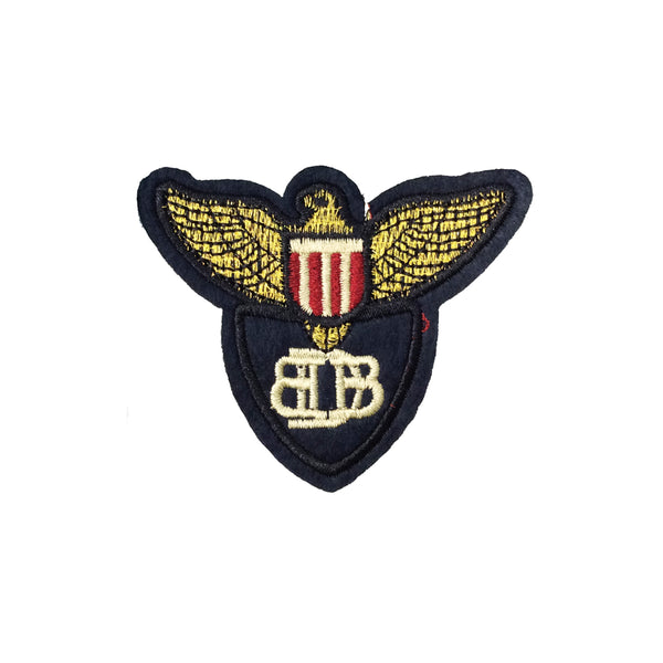 PC4034 - Bird Wings Medal Emblem (Iron On)