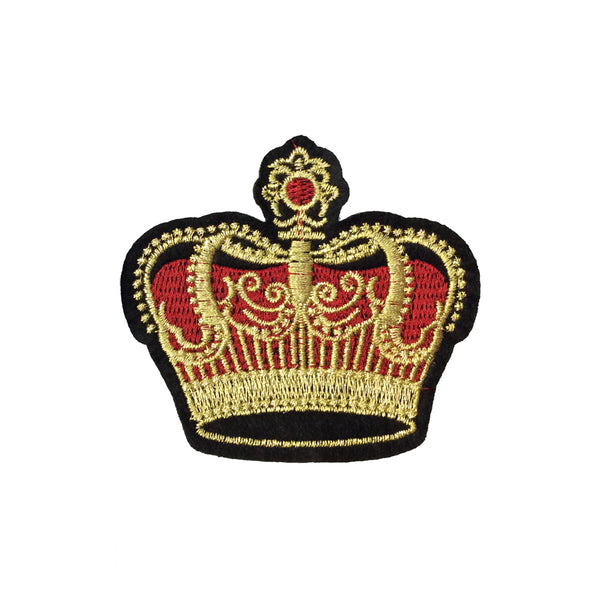 PC4057 - Classic Red Gold Crown (Iron On)