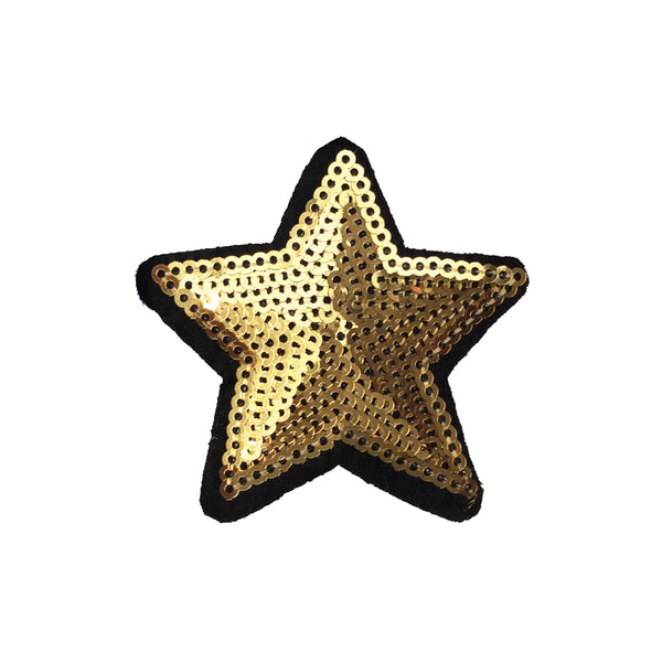 PC4074 - Sequin Star Gold Star (Iron On)