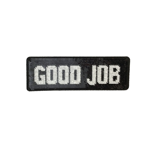 PC4082 - Sequin Good Job Text (Iron On)