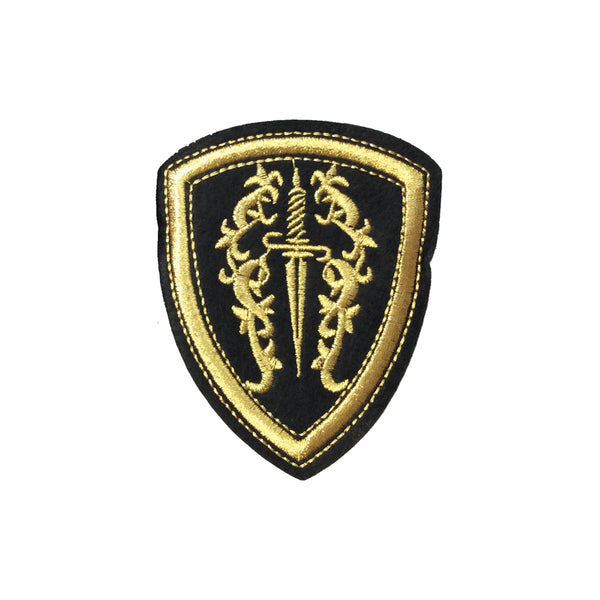 PC4088 - Golden Sword Shield (Iron On)