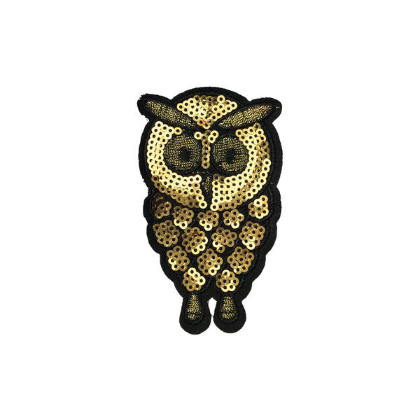 PC4089 - Sequin Gold Owl (Iron On)