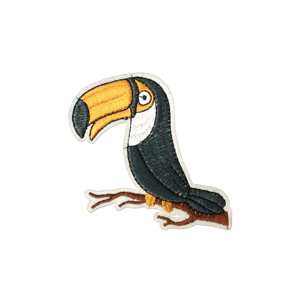 PC4097 - Toucan Parrot Bird Chilling (Iron On)