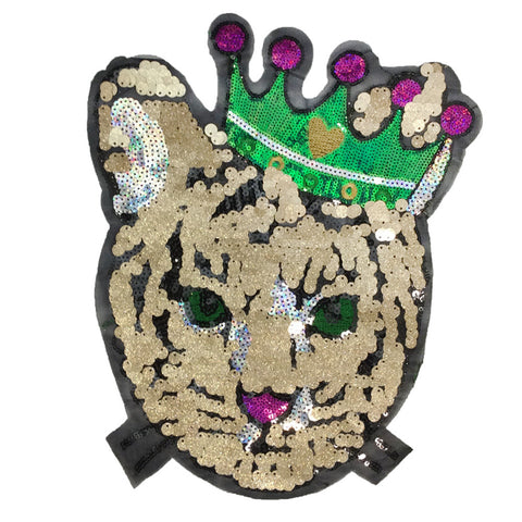 PC4154 - Sequin Cat Queen King (Sew On)