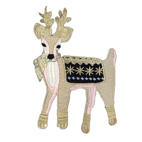 PC4176 - Beige Reindeer Antler Deer (Iron On)