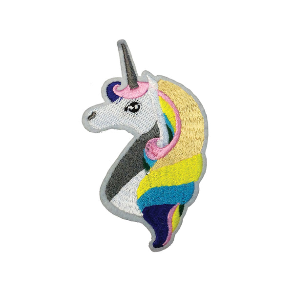 PH1954B - Colourful White Unicorn (Iron On)
