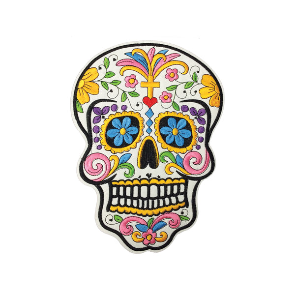 PH5B - Fancy Sugar Skull XXL (Iron on)