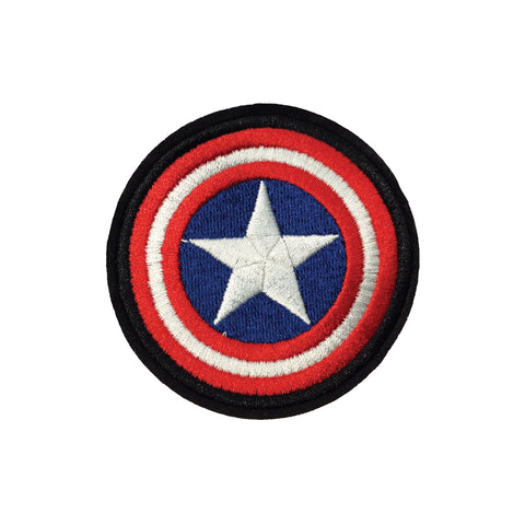 PH907B - Captain America Shield / Star badges (Iron On)