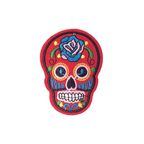 PC3490D - Red Sugar Skull (Iron On)