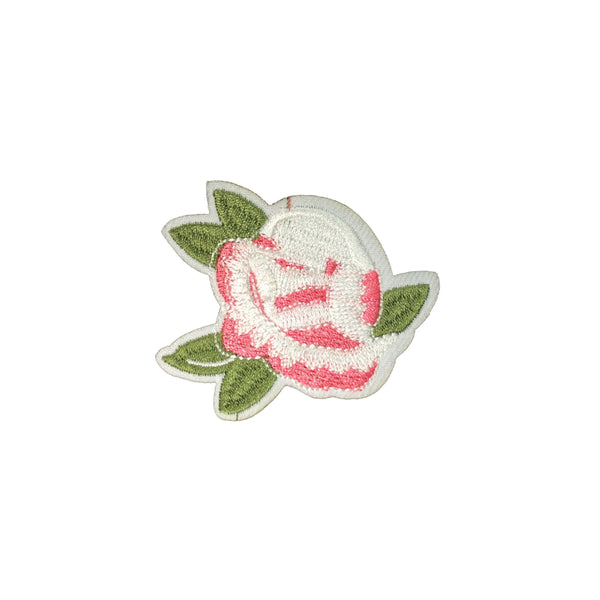 PC3494 - White Pale Pink Rose Flower (Iron On)