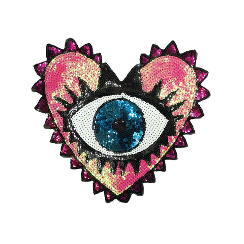 PC3413 - Sequin Heart Eye (Sew On)