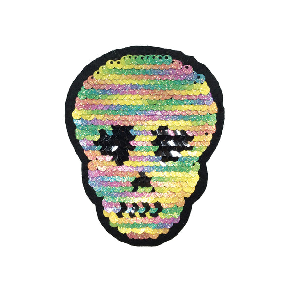PC3364 - Reversible Double Sequin Skull (Iron On)