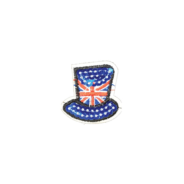 PC3292 - Sequin Union Jack Top Hat (Iron On)