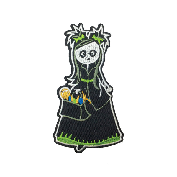 PC3211 - Green Spooky Lady (Iron On)