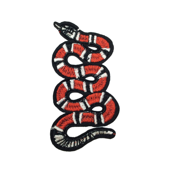 PC2155L - Red Stripes Snake Animal XS LIMITED EDITION (Iron On)