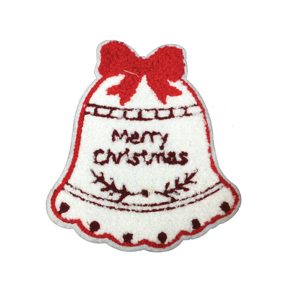 PC3395 -  Fur Merry Christmas Bell (Iron On)