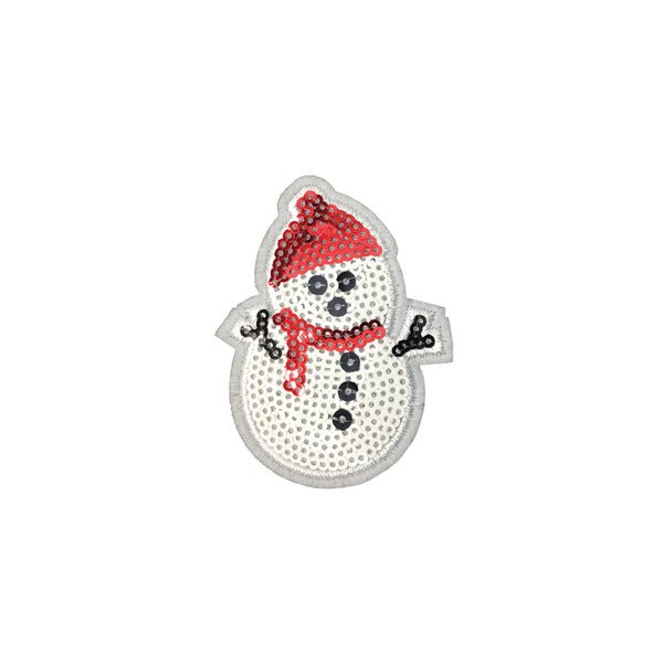 PC3544 - Sequin Christmas Snowman (Iron On)
