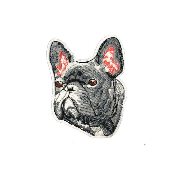 PC3557 - Grey French Bulldog (Iron On)