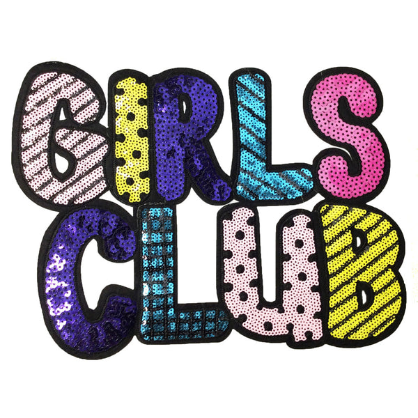 PC4122 - Girls Club Bubble Text (Iron On)