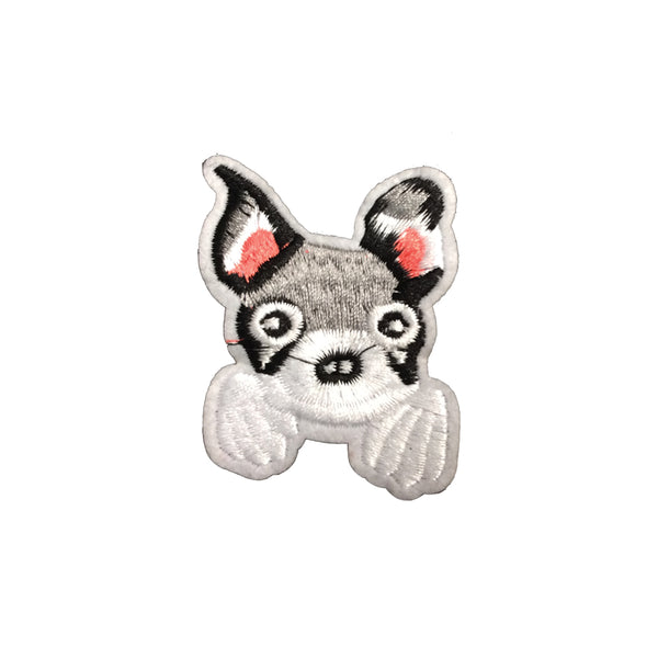 PC3444 - Cute Grey Dog (Iron On)