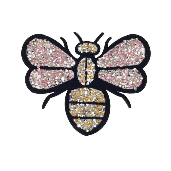 PC3034C - Pink Stone Bee S (Iron On)