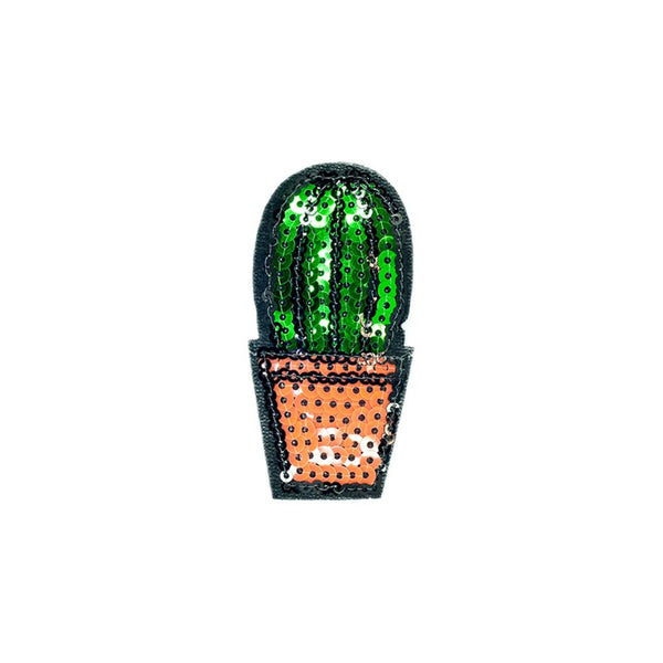 PC2548 - Sequin Cactus Plant Fat (Iron On)