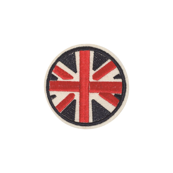 PC2337 - Round Union Jack Navy (Iron on)