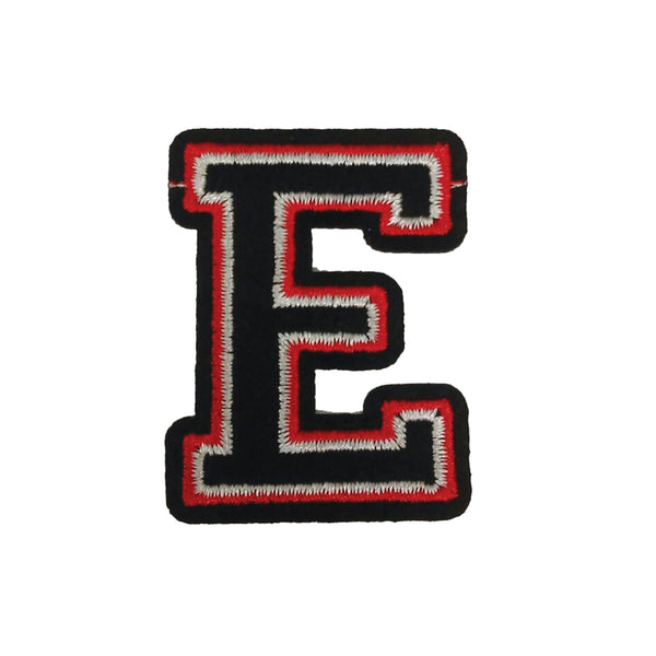 PC3029E - Black and Red Letter E (Iron On)