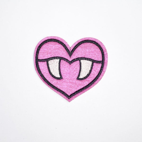 PC2115 - Pink Vampire Heart (Iron On)