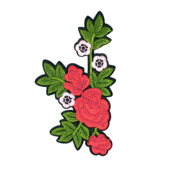 PC2880 - Pinky Red Rose Flower (Iron On)