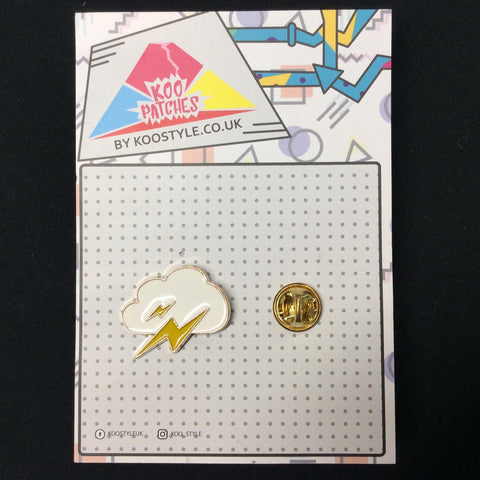 MP0192 - Lightning Bolt Cloud Metal Pin Badge