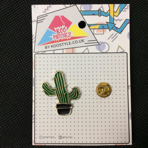 MP0174 - Western Cactus Metal Pin Badge