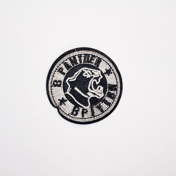PC2191 - Panther Round Badge (Iron On)