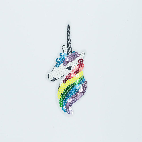 PC2602 - Sequin Unicorn Head (Iron On)