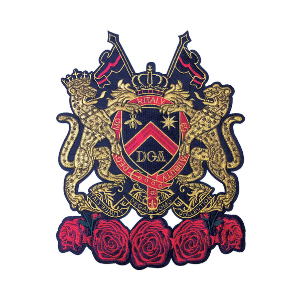 PC3576 - Gold Red Lions Crest (Iron On)