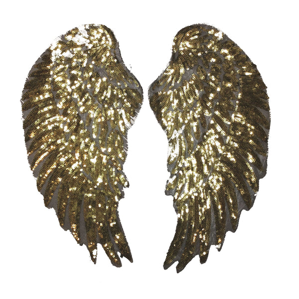PC3100C - Super Sequin Gold Wings XXL (Iron On)