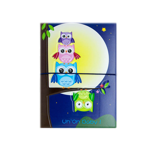 H00006 - Owl Uh Oh Baby Passport Holder