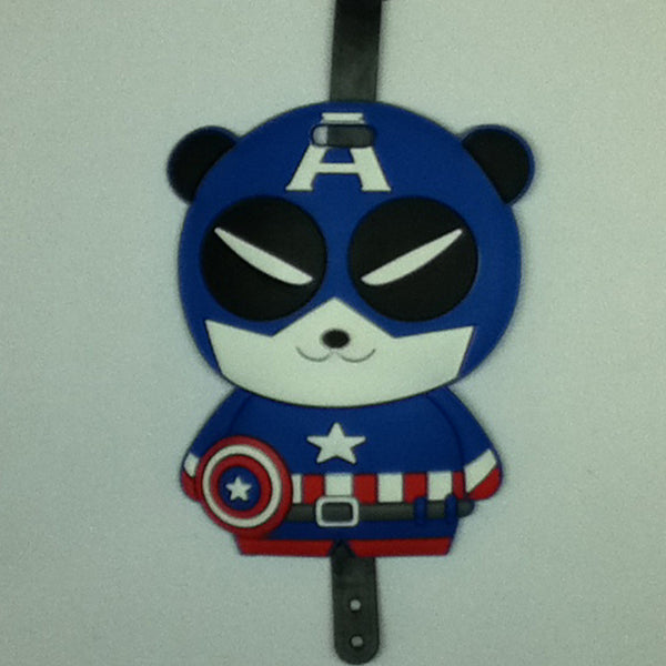 L00392 - Captain America Panda Luggage Tag